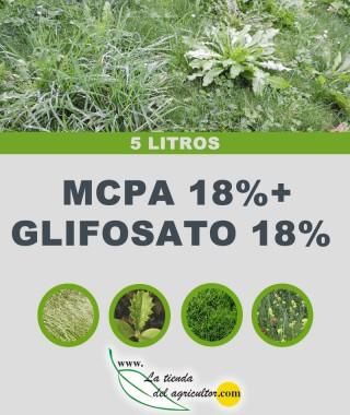 MCPA 18%+GLIFOSATO 18% (5 Litros)