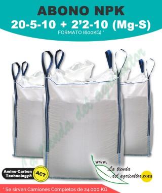 Abono 20 - 5 - 10 + 2'2-10 (Mg-S) - 24.000kg en formato de 600kg