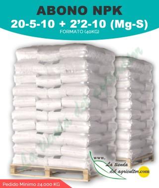 Abono 20 - 5 - 10 + 2'2-10 (Mg-S) - 24.000kg en formato de 40kg