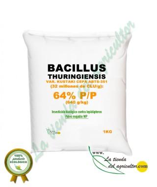 Bacillus thuringiensis var. kurstaki cepa ABTS-351 (32 millones de CLU/g): 64 % p/p (640 g/kg) en 1Kg