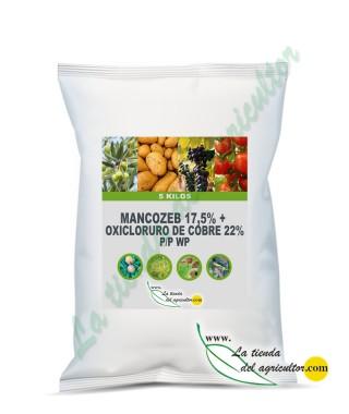 MANCOZEB 17,5% + OXICLORURO DE COBRE 22% P/P WP (5 Kg)