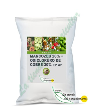 MANCOZEB 20% + OXICLORURO DE COBRE 30% P/P WP (5 Kg)