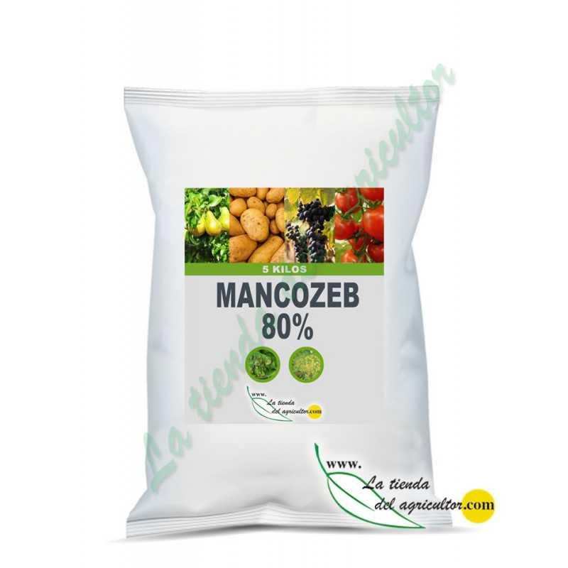 MANCOZEB 80% WP - Formato 5 Kilos - Fungicida desde 5,30 €/Kilo + IVA